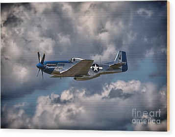 P-51 Mustang Wood Print by Carsten Reisinger