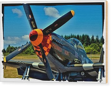 P-51 Mustang Wood Print by David Patterson