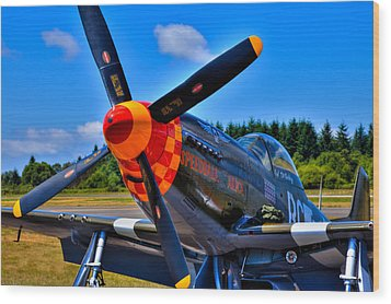P-51 Mustang - Speedball Alice Wood Print by David Patterson