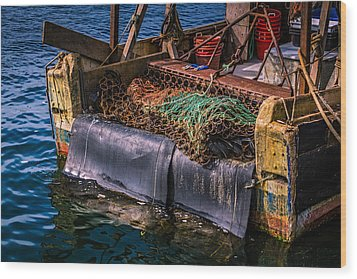 P-towns Fishing Troller  Wood Print by Susan Candelario