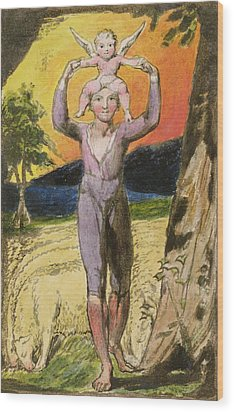 P.124-1950.pt29 Frontispiece To Songs Wood Print by William Blake