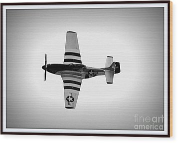 P51 King Of The Skies Wood Print by Kevin Fortier