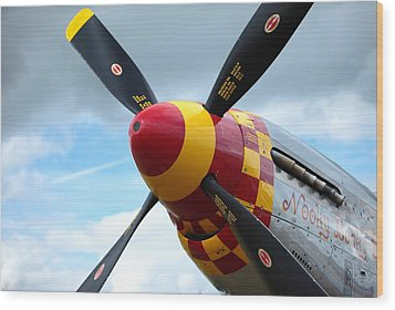 P51 Propeller Wood Print by Remy NININ