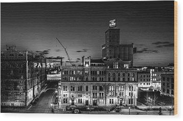 Pabst U-turn Monochrome Wood Print