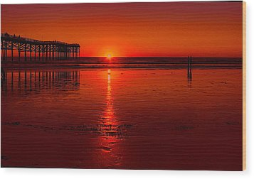 Pacific Beach Sunset Wood Print