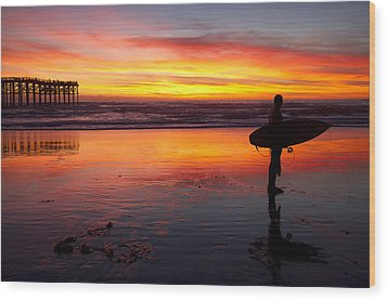 Pacific Beach Was On Fire Tonight Wood Print by Nathan Rupert