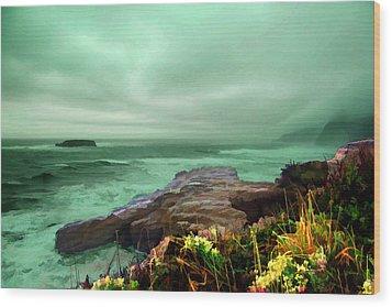 Pacific Beauty Wood Print by Dale Stillman