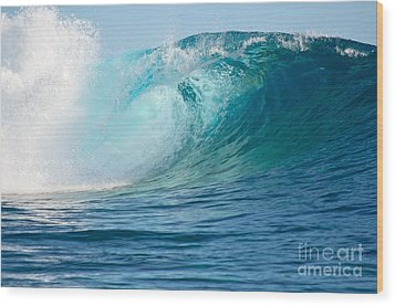 Pacific Big Wave Crashing Wood Print