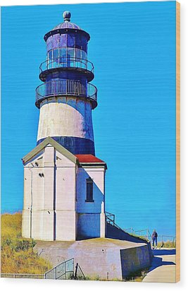 Pacific Coast Light House Wood Print