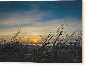 Pacific Coast Sunset Wood Print by Puget  Exposure