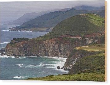 Pacific Coast View Wood Print