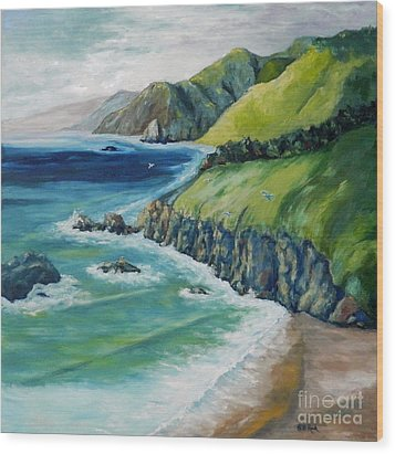 Pacific Coast Wood Print