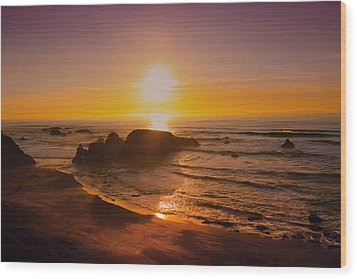 Pacific Gold Wood Print