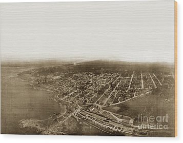 Pacific Grove 1200 From Feet Above Lovers Point And Monterey Bay 1906 Wood Print