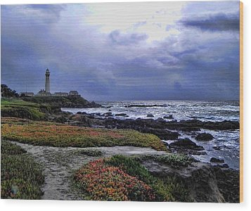 Wood Print featuring the photograph Pacific Lighthouse by Kathy Churchman