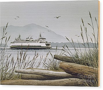 Pacific Northwest Ferry Wood Print