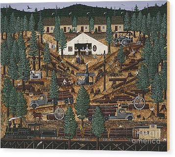 Pacific Northwest Logging Memories Wood Print