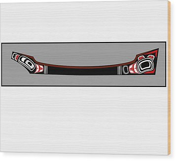 Pacific Northwest Native Canoe Wood Print by Fred Croydon