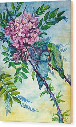 Pacific Parrotlets Wood Print