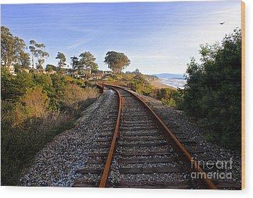 Pacific Rail Wood Print by Shannan Peters