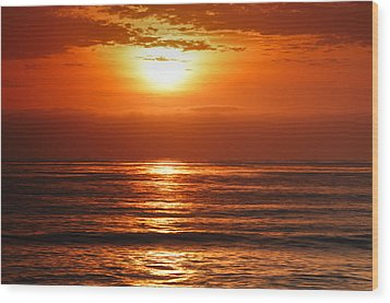 Pacific Sunset @ Point Loma Wood Print by Photography  By Sai