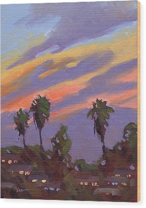 Pacific Sunset 1 Wood Print by Konnie Kim