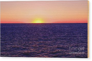 Pacific Sunset Off Laguna Beach Wood Print by Bob and Nadine Johnston