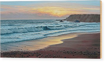 Pacific Sunset Wood Print by Paul Krapf