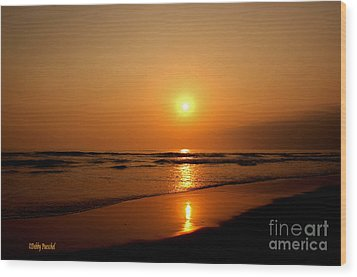 Pacific Sunset Reflection Wood Print by Debby Pueschel