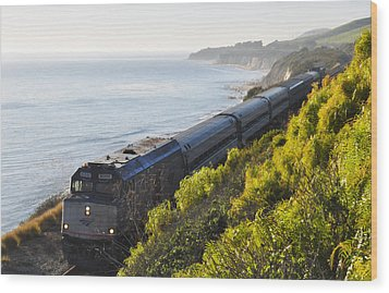 Pacific Surfliner Along The Central Coast Wood Print