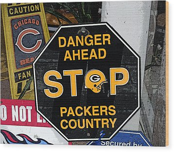 Packers Country Wood Print by Kay Novy