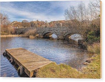 Padarn Bridge Wood Print by Adrian Evans