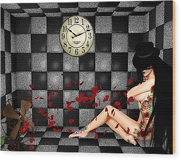 Padded Room Visions Wood Print by Kristie  Bonnewell