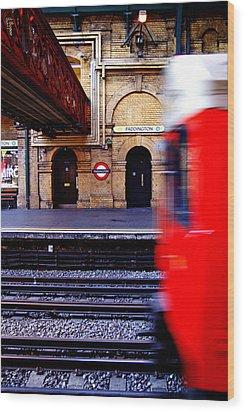 Paddington Station Tube Wood Print