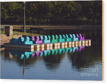 Wood Print featuring the digital art Paddle Boats by Kelvin Booker