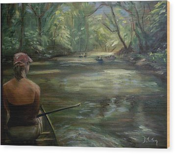 Wood Print featuring the painting Paddle Break by Donna Tuten