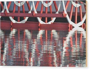 Paddle Wheel Wood Print by AnnaJo Vahle