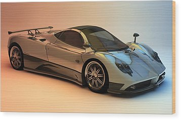 Pagani Zonda F Wood Print by Louis Ferreira