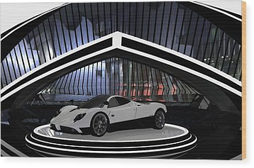Pagani Zonda Wood Print by Louis Ferreira