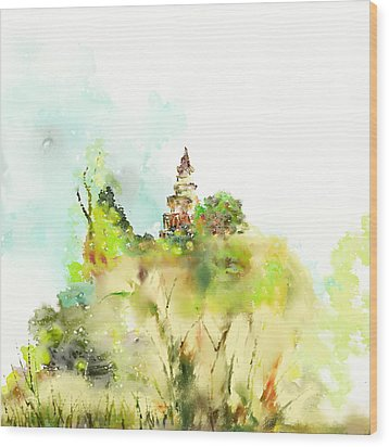 Pagoda Wood Print by Len YewHeng