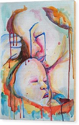 Painful Joy Wood Print by Janet Garcia