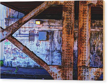 Paint And Rust 28 Wood Print by Jim Wright