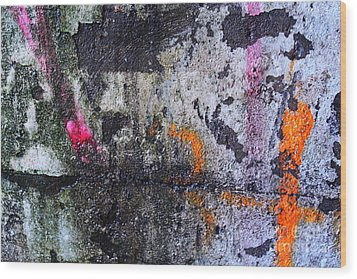 Paint And Rust 31 Wood Print by Jim Wright