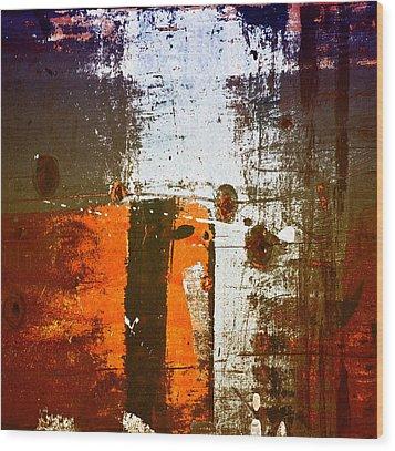Paint Bi Color 1 Wood Print