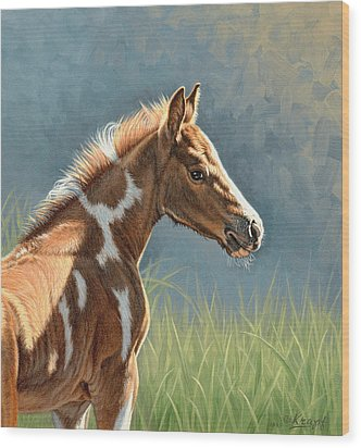 Paint Filly Wood Print by Paul Krapf