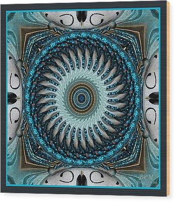 Paint Glitter Wood Print by Barbara R MacPhail