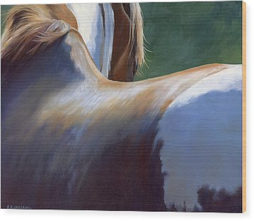 Wood Print featuring the painting Paint Landscape II by Alecia Underhill