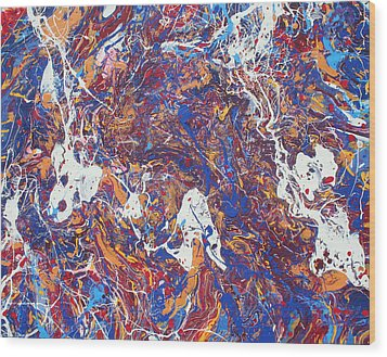 Paint Number Five Wood Print by Ric Bascobert