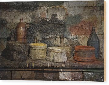 Paint Pots Wood Print by Inge Riis McDonald