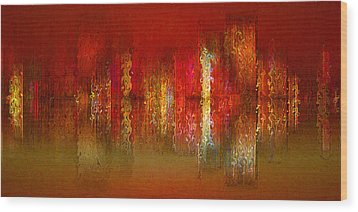 Paint The Town Red Wood Print by Stuart Turnbull
